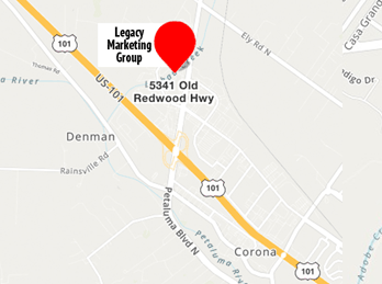 Map of Legacy Marketing Group and link to Google Maps