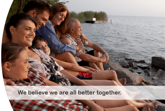 We belive we are all better together.